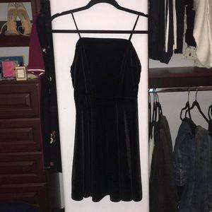 velvet black mini dress